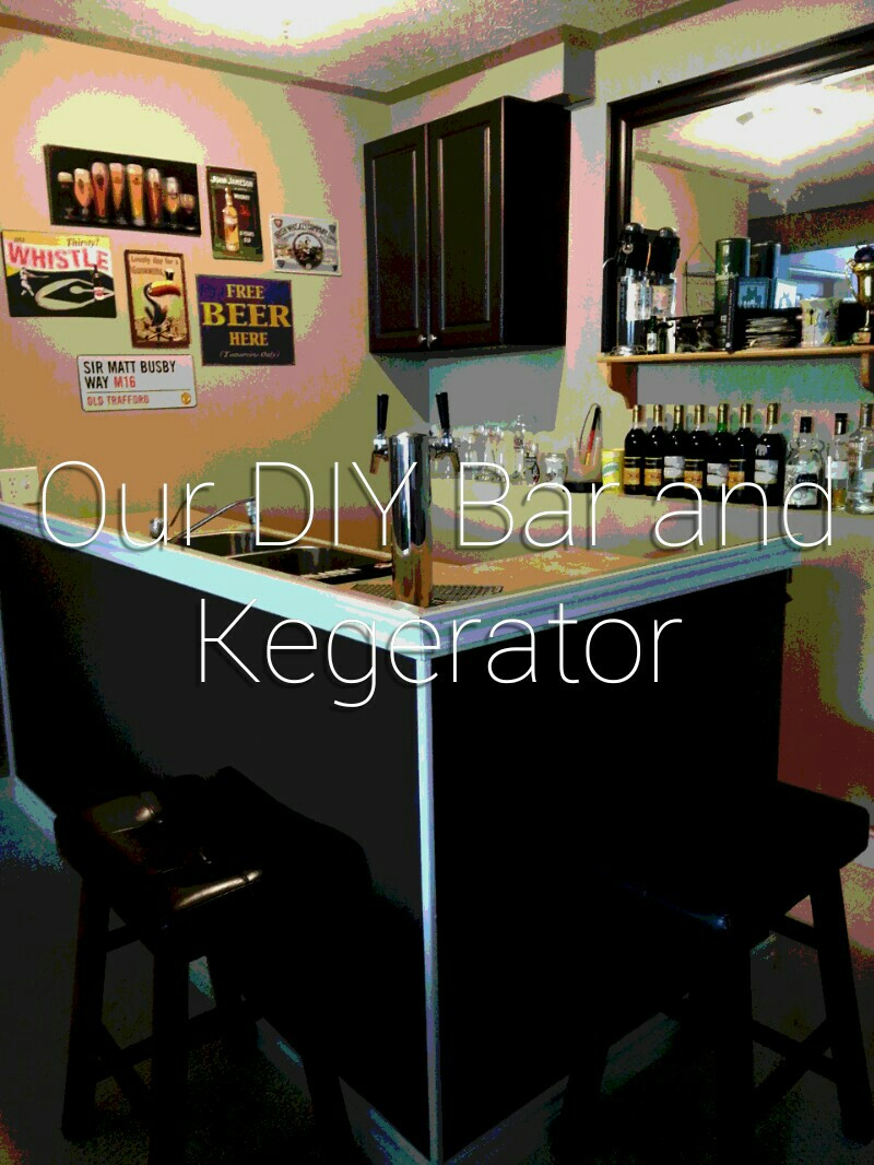Our diy bar and kegerator plunged in debt for Home bar with kegerator space