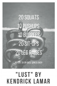 Lust -  One Song Workouts