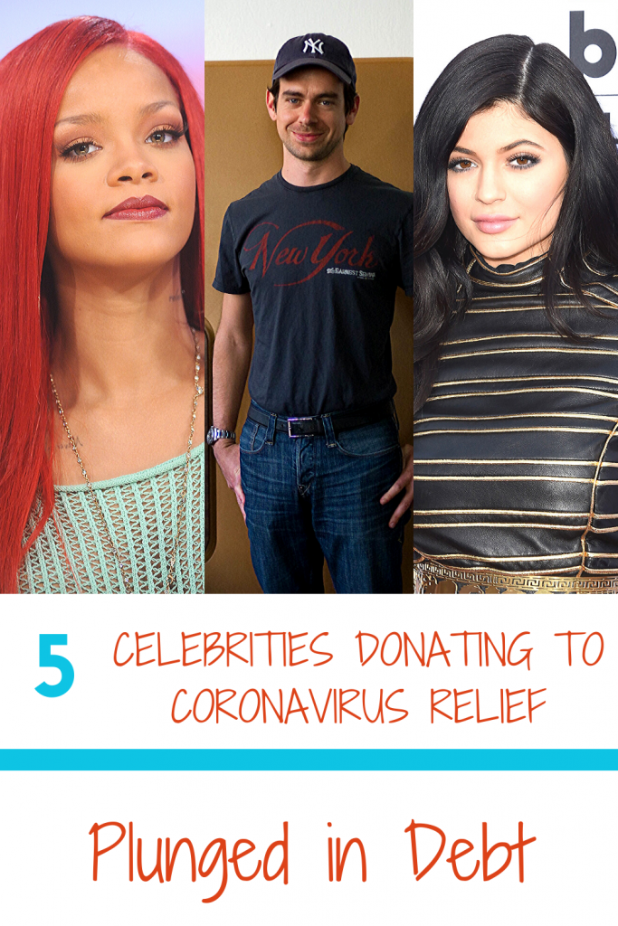 Celebrities donating to coronavirus relief
