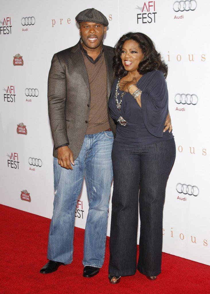 Tyler Perry with Oprah Winfrey